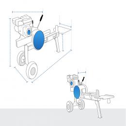 Custom Log Splitter Covers - Kinetic Gas Log Splitter