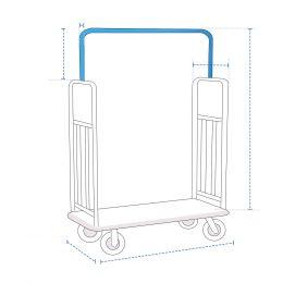 Custom Luggage Cart Cover - Design 2
