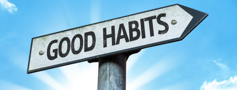 Good habits road sign style banner