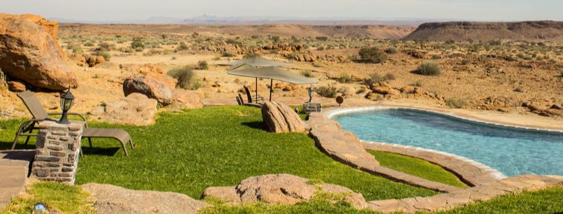Swimming pool in the desert